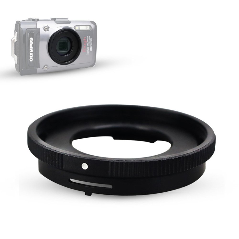 Filter Adapter JJC Conversion Lens Ring Adapter for Olympus Tough TG-5 TG-4 TG-3 TG-2 TG-1 replaces Olympus CLA-T01 Adapter Ring Mount 40.5mm Filter