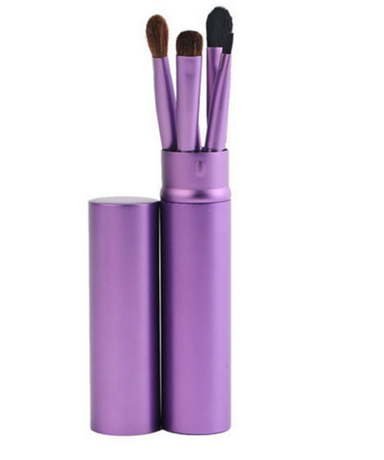 5 piece private label makeup brush cylinder case,Custom logo Powder foundation brush synthetic