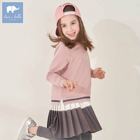 DBK8122 dave bella kids 5Y-11Y fashion dress children high quality dresses baby long sleeve clothing kids brand clothes