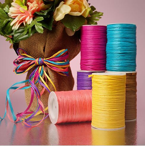Fashion decoration style tissue flower wrapping Ribbon supply