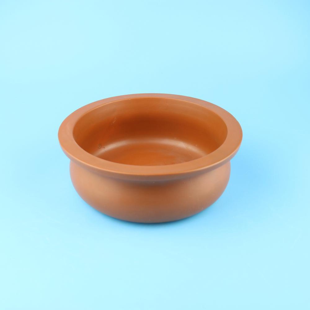 Indiano Argilla terracotta biryani pentola, ceramica smaltata piatto di cibo