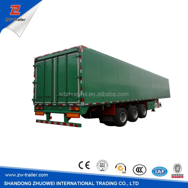 Construction Hydraulic Side Tipping Box Dumper / Tipper Semi Trailer