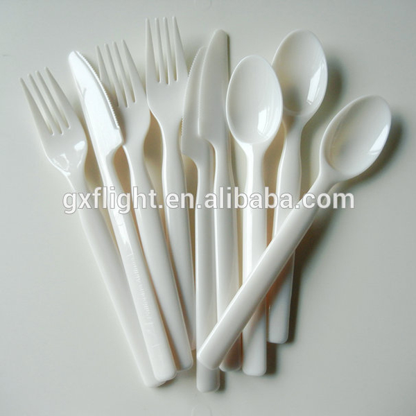 FS inflight PS/PP plastic disposable flatware cutlery set