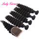 Three/Middle/Free human hair lace closure Italian hair accessories