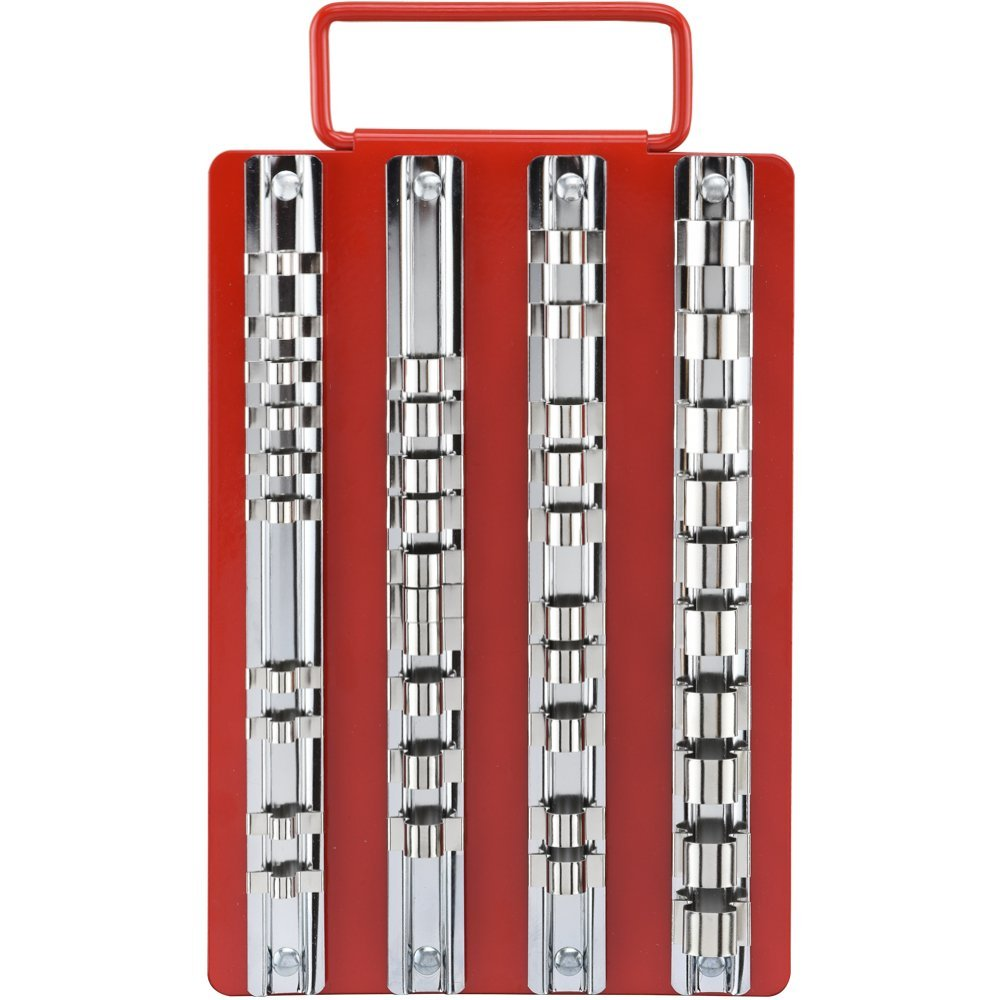"Neiko 02458A Universal Socket Holders in Organizer Tray | 40-Piece Set | 1/4"", 3/8"" and 1/2"" Multi-Drive"