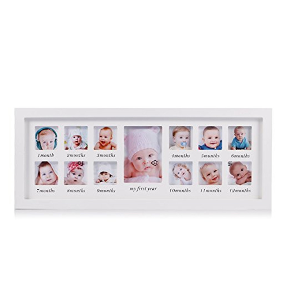 Personalized babys first 12 month timeline collage 12 photo frame personalized babys first 12 month timeline collage 12 photo frame jeuxipadfo Gallery
