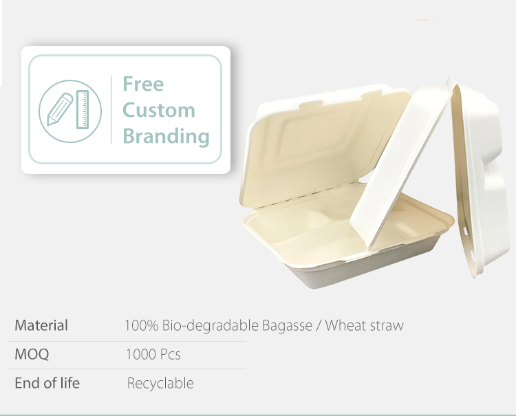 YTBagmart Non-Toxic Eco-Friendly Packaging Takeaway Food Paper Box