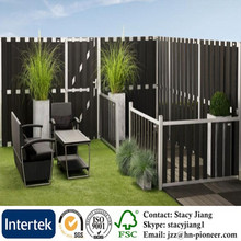Basic Fence WPC Fencing and Aluminum Beams Decorative Outdoor WPC Garden Wood Plastic Composite Fence