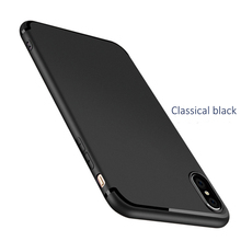 DFIFAN Full Matte with shiny line phone cases for iphone x Mobile accessories for new iphone x xs black flexible tpu cases