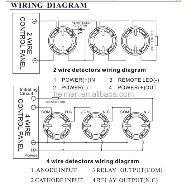 Photoelectric Smoke Detector Alarm Fire Alarms Hm615pc2 Rhalibaba: 4 Wire Smoke Detector Wiring Diagram At Gmaili.net