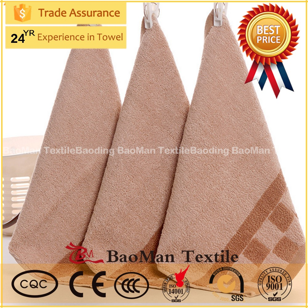 China woven coffee color 100 cotton jacquard luxury durable hand towel