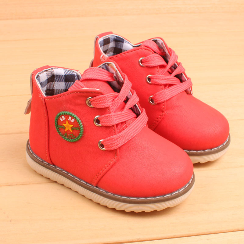 Spring autumn fashion child boots shoes soft bottom flat boys girls boots shoes baby casual flat