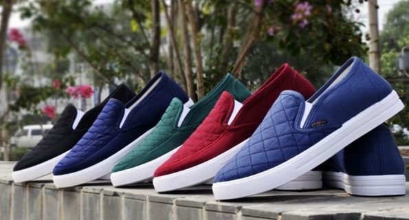New fashion canvas shoes Men Loafers Comfortable Breathable Casual Shoes