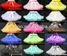 2013Hot Sale!So Soft Chiffon Baby Christmas Petti Skirt With Cute Bow Baby Birthday Tutu Skirt Dance Party Pettiskirt For Girls