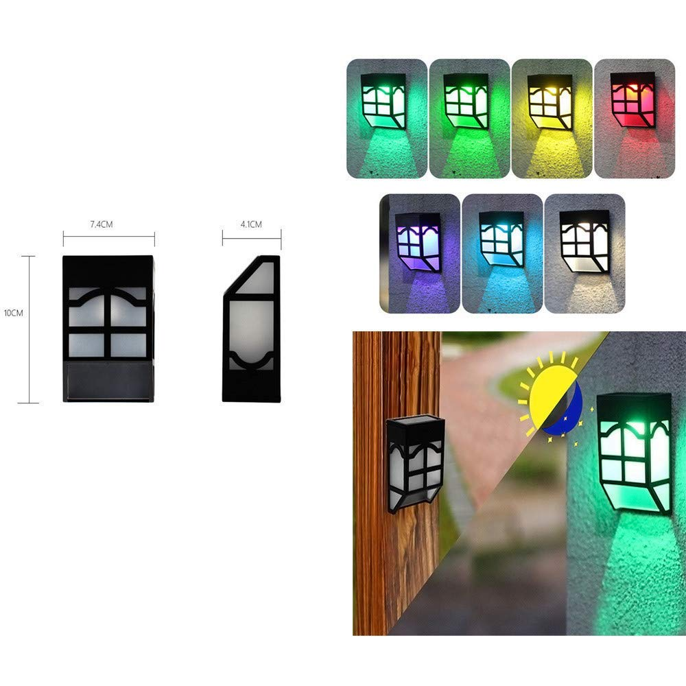 Gbell Outdoor LED Solar Lights IP65 Waterproof Lights for Outdoor Fence Garden Home Landscape Lights Decoration,10x7.4x4.1CM,Ship from US