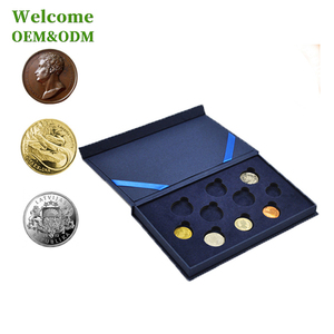 KID custom wholesale collection commemorative display velvet paper coin box