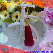 wholesale red beautiful mini tassel for bag decoration