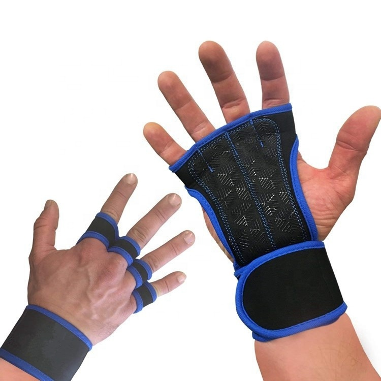 Top Selling Antislip Gym Half Vinger Gewichtheffen Palm Protector Cross Fit Handschoenen Met Polssteun Voor Training Workout