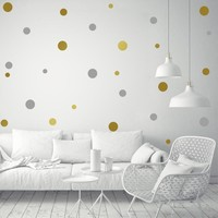 DIY Removable Polka Dot Vinyl Wall Stickers Baby Nursery Bedroom Murals Wallpaper Decal for Kids Children Home Background Decor