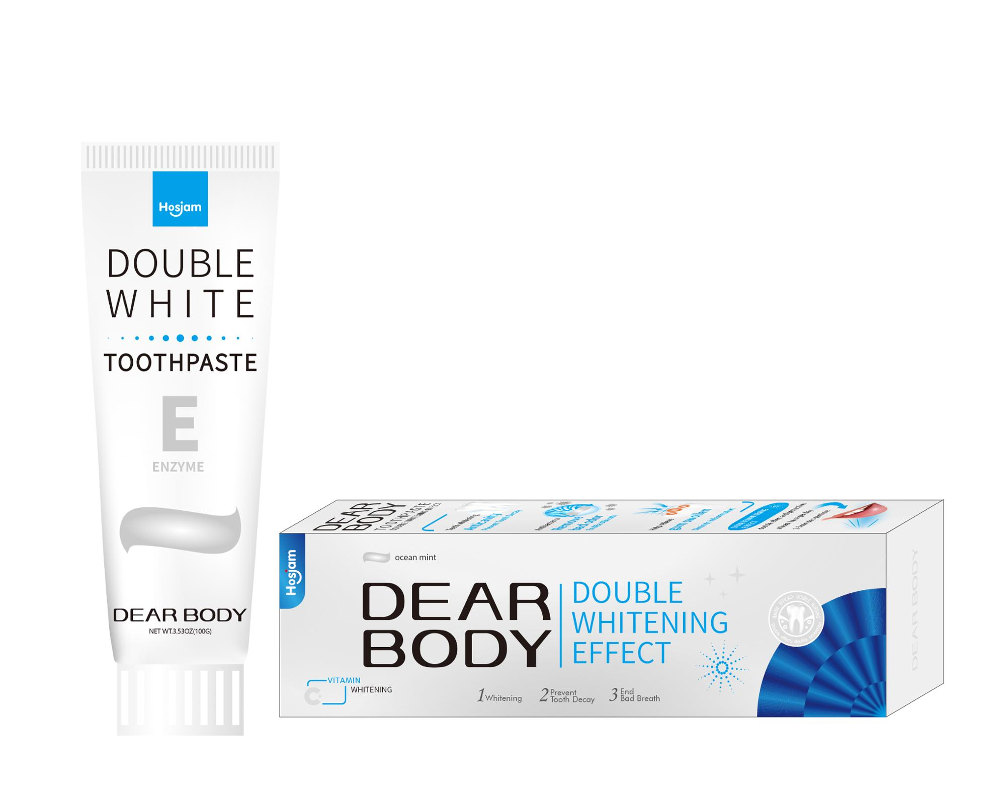 Dear Body Brand Organic private label bamboo charcoal toothpaste