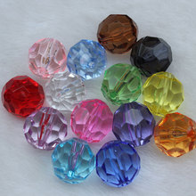 4-20 MM Transparent Acryl Faceted Runde Kristall Perlen Lose Spacer Perlen für DIY Schmuck Machen