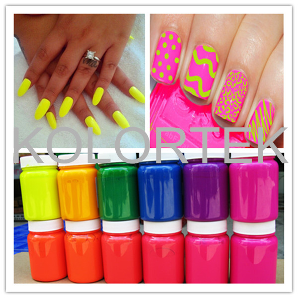 Neon UV reactive colors, nail polish fluorescent neon pigment china supplier