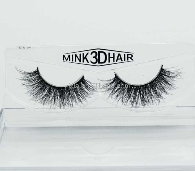 Private label 3D multi-layered mink hair fake eyelash pure hand eyelash