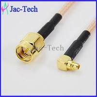 Electrial connector cable custom SMA male to MCX male right angle with RG316 cable assemble coaxial jumper