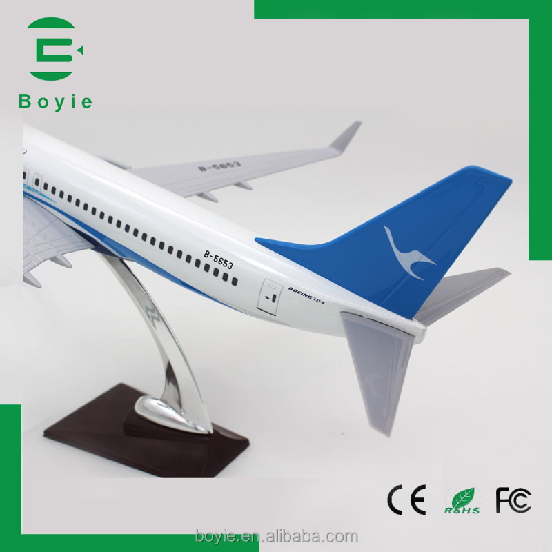 Original feature scale 42CM B737 Xiamen airlines 1:80 boeing aircraft large scale model planes with wooden base