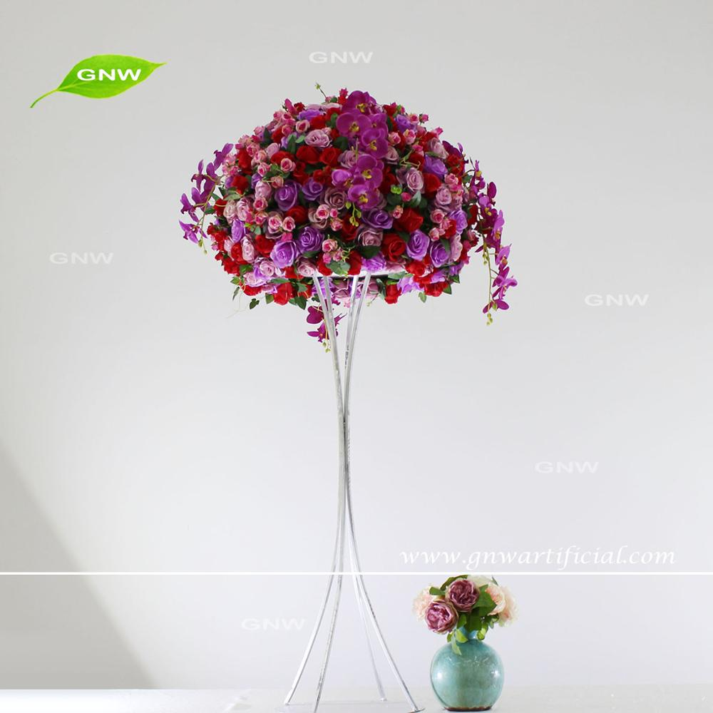 Gnw Beautiful Colours Table Floral Holder Wedding Bouquet Silk ...