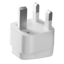 UK to EU Euro European 어댑터 White Plug/UK Travel Adaptor