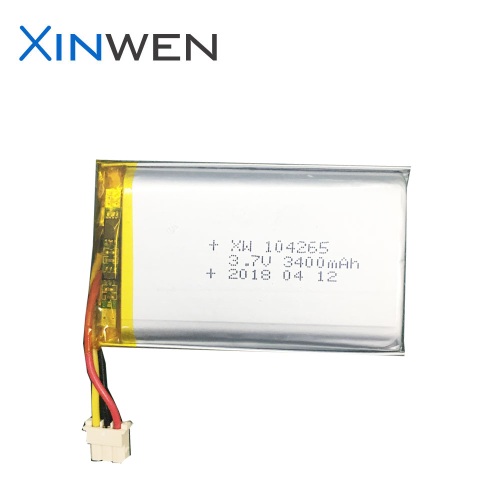 shenzhen battery XW 104065 3000mAh 3.7v lipo battery rechargeable battery