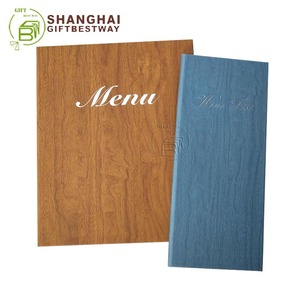 Red wine menus menu cover drink menus 3-panel menu restaurant menu card holder