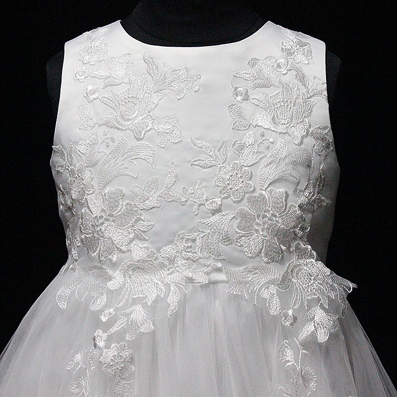D30406B Kids Princess wholesale lovely lace flower girl dresses for children wedding dress