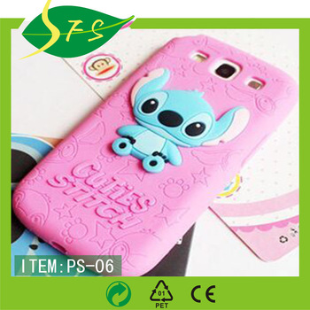 another chance 75106 96aee New Style Cute Cartoon Model Silicon Material Stitch 3d Shape Movable Ear  Cover Phone Case For Apple Iphone For Samsung - Buy Silicone Animal Shaped  ...
