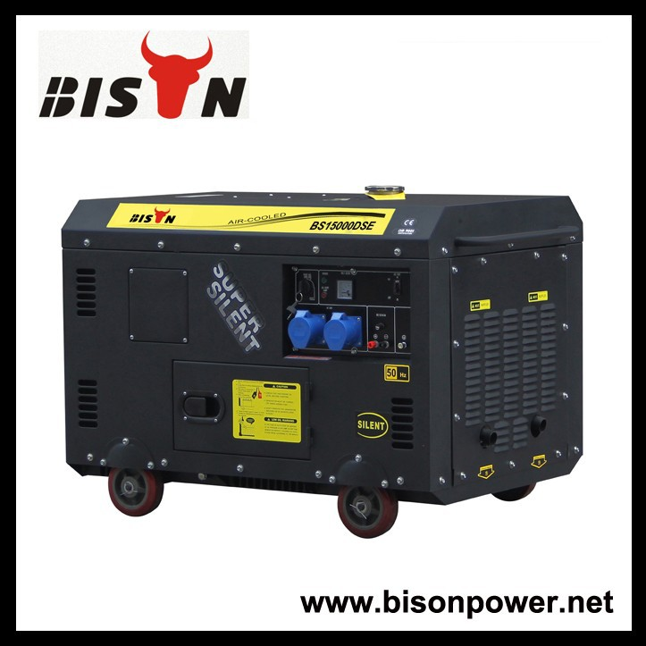 BISON(CHINA) Strong Diesel Power Engine Silent 12kv Generator Set