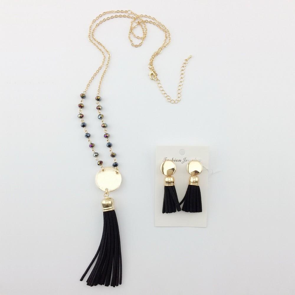 Blank Plate For Monogram Tassel Necklace Earring Jewelry Set