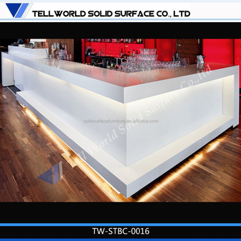 Top Quality Factory Price Smoothie Bar Artificial Stone Counter