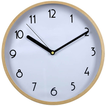 12 Inch Natural Wood Frame Wall Clock Old Fashioned Clocks For Sale ...