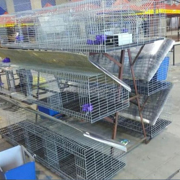2018 new design low carbon steel wire industrial rabbit cage/ animal cage/ rabbit cage breeding for farming with great price