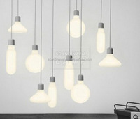 SCANDINAVIALAMP Industrial Edison Mini Glass 1-Light Pendant Hanging Lamp Fixture