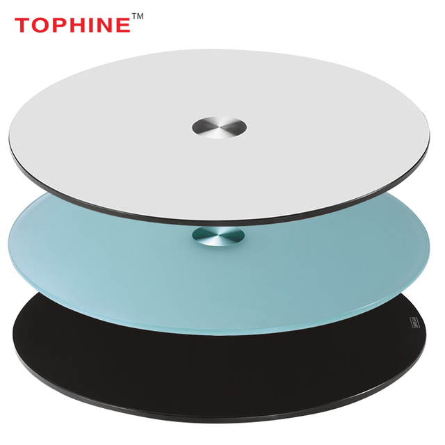 Chinese Supplier Clear /stained /Crackle Round Tempered Glass Table Top
