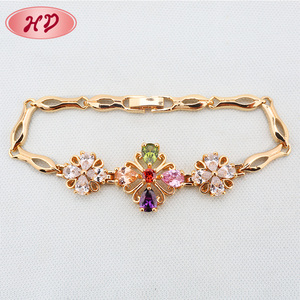Cheap friendship Bracelet chain Jewelry Wholesale new fashion Chain 18k Gold plated Bracelet for women