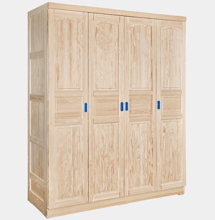 Wooden Material Kid Bedroom Furniture 4 Door Wardrobe