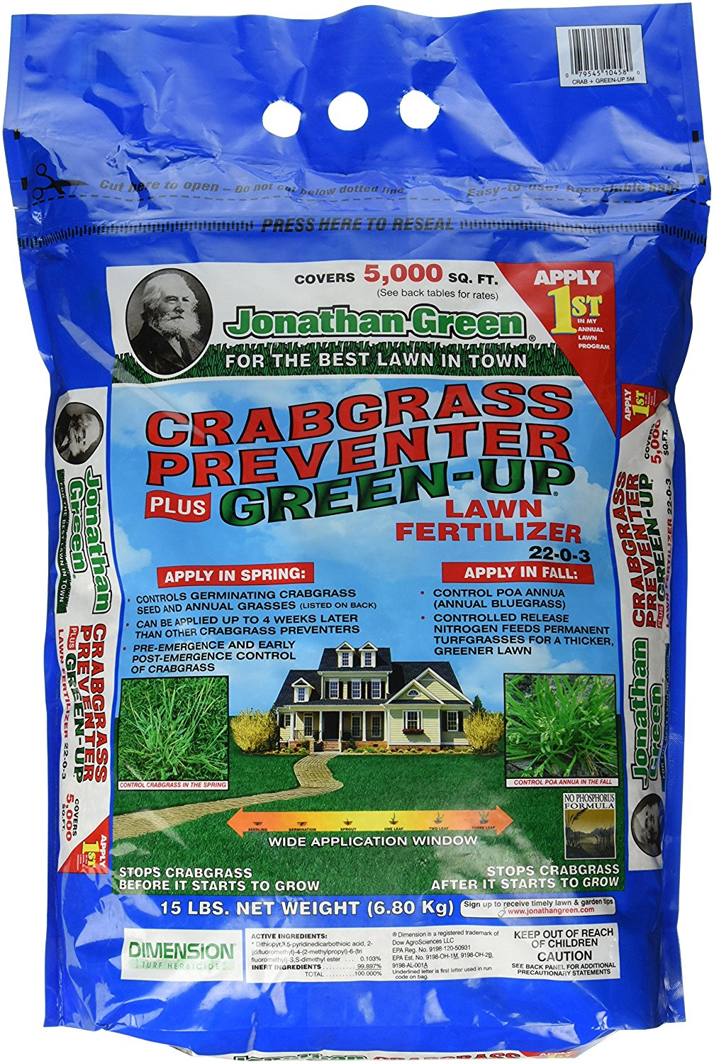 Get Quotations Jonathan Green 10458 Crabgr Preventer Plus Up Lawn Fertilizer