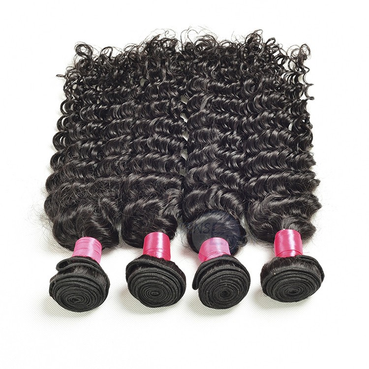 Wholesale Dropping Raw unprocessed virgin Indian Deep Wave Human Hair India hr40032
