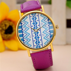 Cheap Price Fashion Watch Leather Strap Luxury Brand Watch No Numbers