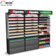 Advertising Interactive Display Fixture Metal Wall Mount Tobacco Shop Large Cigarette Display Cabinet