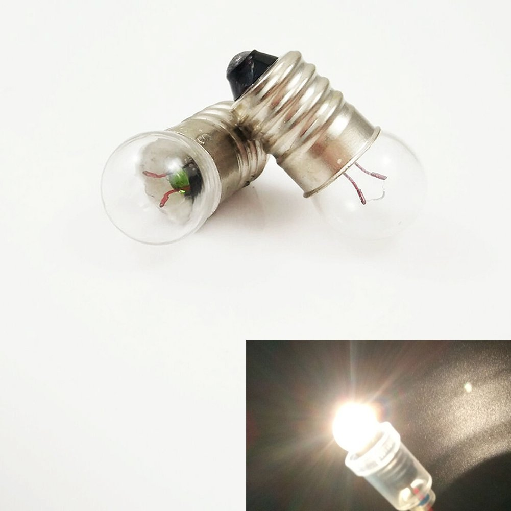 Pack of 10 E10 18V 2W Lamp Bulb WarmWhite Miniature Screw Base for DIY Teaching Experiment