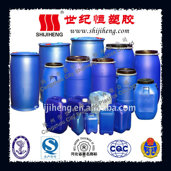 Various plastic drums from 5L to 200L